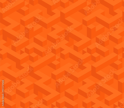 Isometric cubes Seamless pattern. Vector pattern for projects as web elements and backgrounds. - 157275426