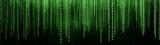 Green Binary Matrix Background  - 157277052