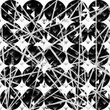 abstract background pattern, with circles/squares, strokes and splashes, black and white