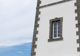 Lighthouse detail with window overlooking the sea