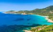 Summer landscape of Corsica island