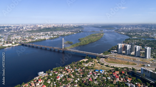 Beautiful area of Kiev near the Dnieper River.