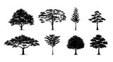 silhouette tree set - 157303653