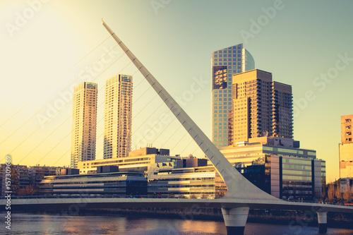 Fotobehang Buenos Aires Puente de la Mujer, Buenos Aires, Argentina, South America