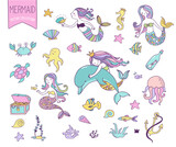 Under The Sea  Little Mermaid Fishes Sea Animals And Starfish   Wall Sticker