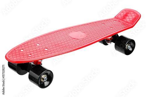 Fotobehang Skateboard Red plastic skateboard