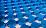 Abstract blue and white geometric background. 3D render