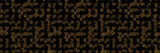 seamless array made of dark golden objects with opening in different directions