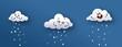 Nubes infantiles lloviendo