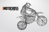 Fototapety Motocross drivers silhouette. Vector illustration