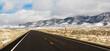Winter Landscape Panoramic Mount Augusta Range Central Nevada Highway