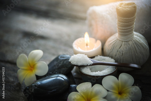 In de dag Spa Spa concept on wooden background