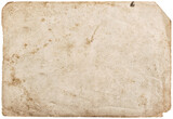 Used paper sheet isolated white background texture