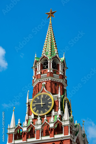 Spassky Tower on Red Square Poster