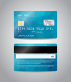 Fototapety Realistic detailed credit card