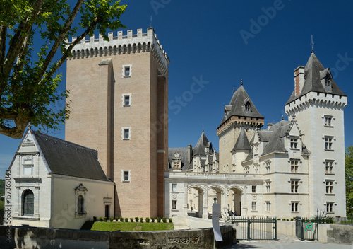 Foto Murales Royal Pau castle in the French city Pau