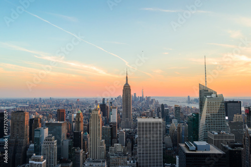 View from Top of the Rock during the sunset Poster