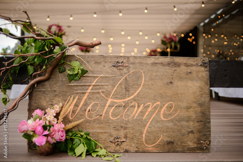 Original wedding floral decoration