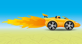 Fast car in the desert.