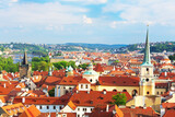 Prague cityscape, view of the downtown