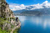 Summer view over of lake Garda in Italy, Europe