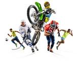 Huge multi sports collage soccer athletics football hockey motocross - 157389072
