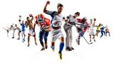 Huge multi sports collage soccer basketball football hockey baseball boxing etc - 157389207