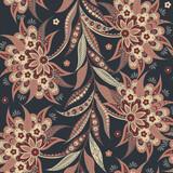 ethnic flowers seamless pattern