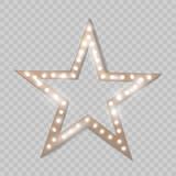 Star. Retro light. Vector illustration