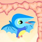 Dinosaur World. Pterodactyl. Flying dinosaur.