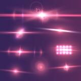Fototapety Illustration of Transparent Vector Lens Flare Effect Set