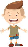happy kid boy cartoon character