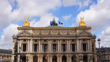 Photo of Opera , Palais Garnier on a cloudy spring morning, Paris, France