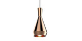 Isolated copper brass color shiny pendant lamp 3d illustration concept - 157420808