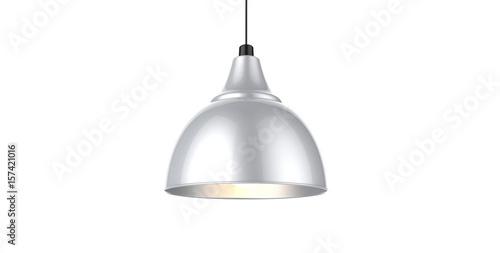 Odosobniony srebnego koloru breloczka 3d ilustraci lampowy pojęcie
