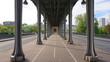 Photo of iconic bridge of Bir-Hakeim on a spring morning, Paris, France