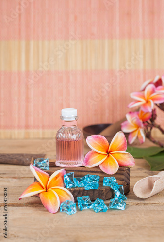 aroma therapy oil in bottle,concept herbal spa Poster