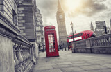 phone box and big ben, london, uk © rcfotostock