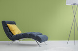 Navy blue chaise longue - 157443241