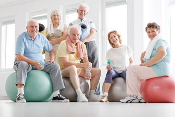 Senior fitness team