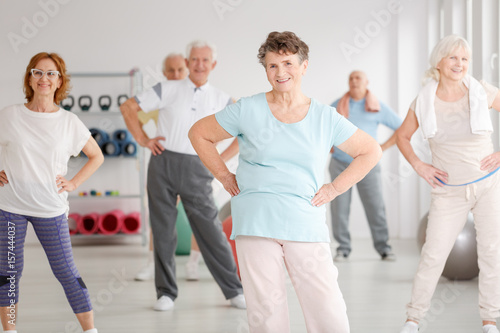 Active seniors in club
