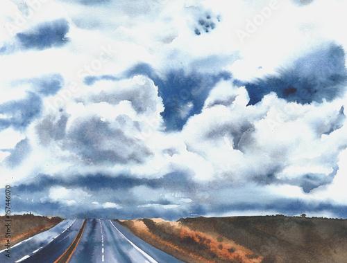drogi-autostrady-chmury-nieba-wsi-amerykanskie-drogi-autostrada
