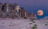 Moon-rise in stone desert