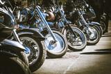 Fototapety motorbikes in line