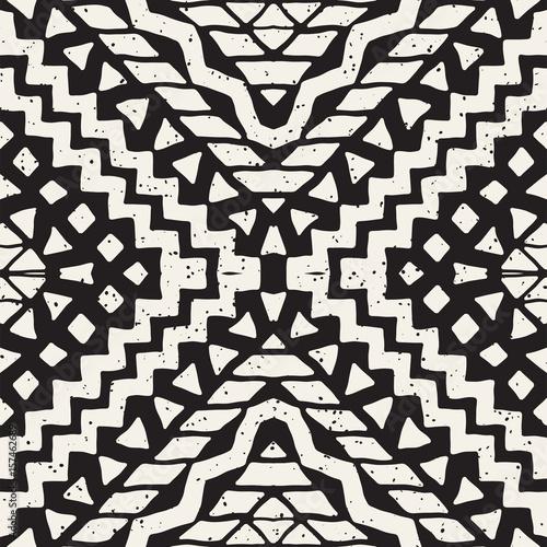 Materiał do szycia Ręcznie rysowane malowane wzór. Wektor tribal wzór tła. Etnicznym motywem. Pasek etniczne geometrycznej ilustracja linie. Druki artystyczne, włókienniczych, tapeta.