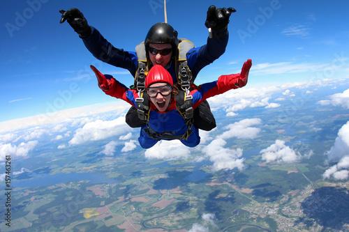 Póster Tandem parachuting