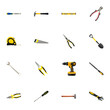 Realistic Spade, Plumb Ruler, Hacksaw And Other Vector Elements. Set Of Kit Realistic Symbols Also Includes Measure, Instrument, Tool Objects.