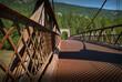 Historic Alexandra Bridge, British Columbia, Canada. Crossing the Fraser River near Boston Bar, British Columbia, Canada.