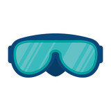 swimming googles isolated icon vector illustration design