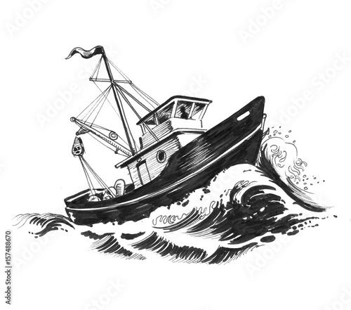 Łódź i morze